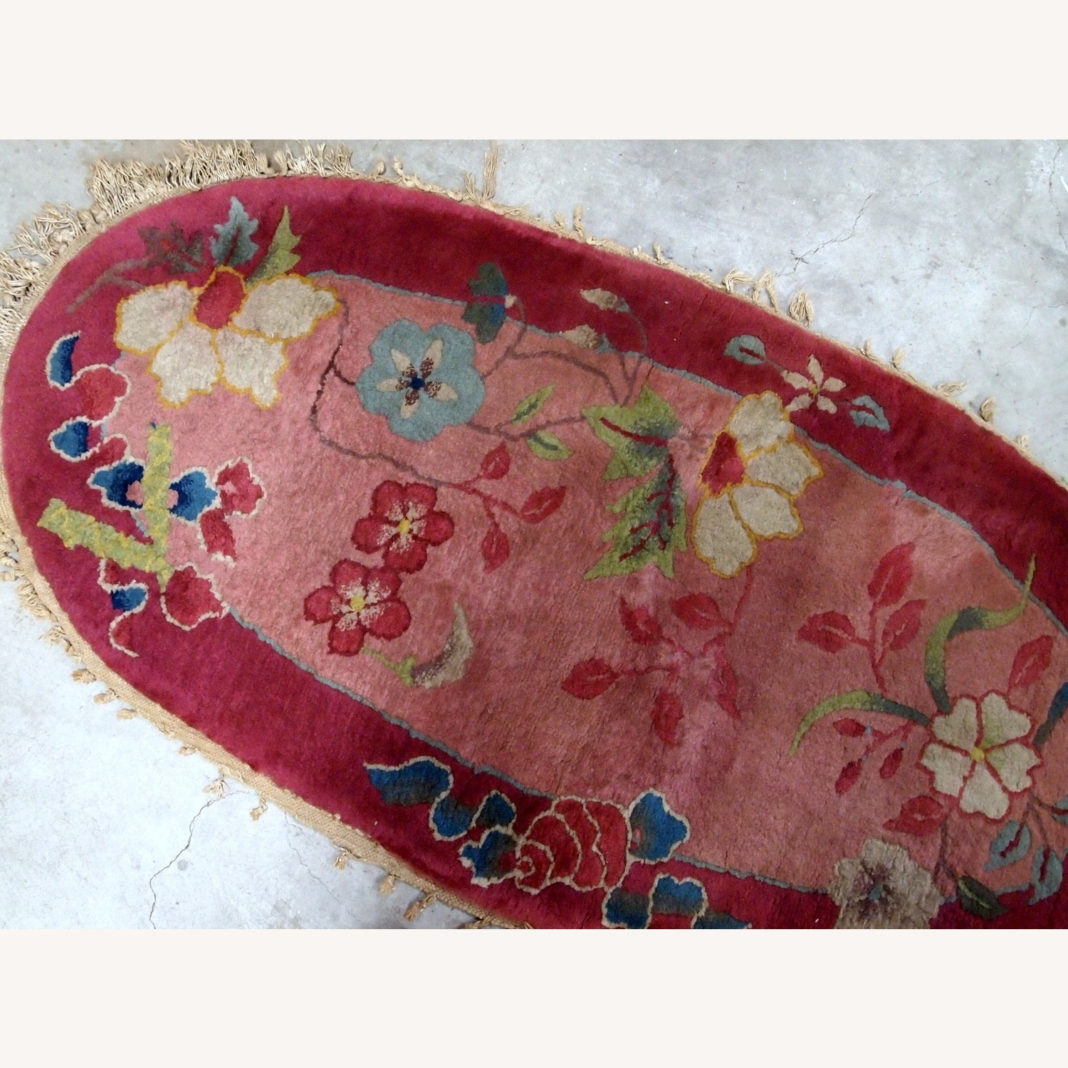 Handmade Antique Art Deco Chinese Rug - image-5