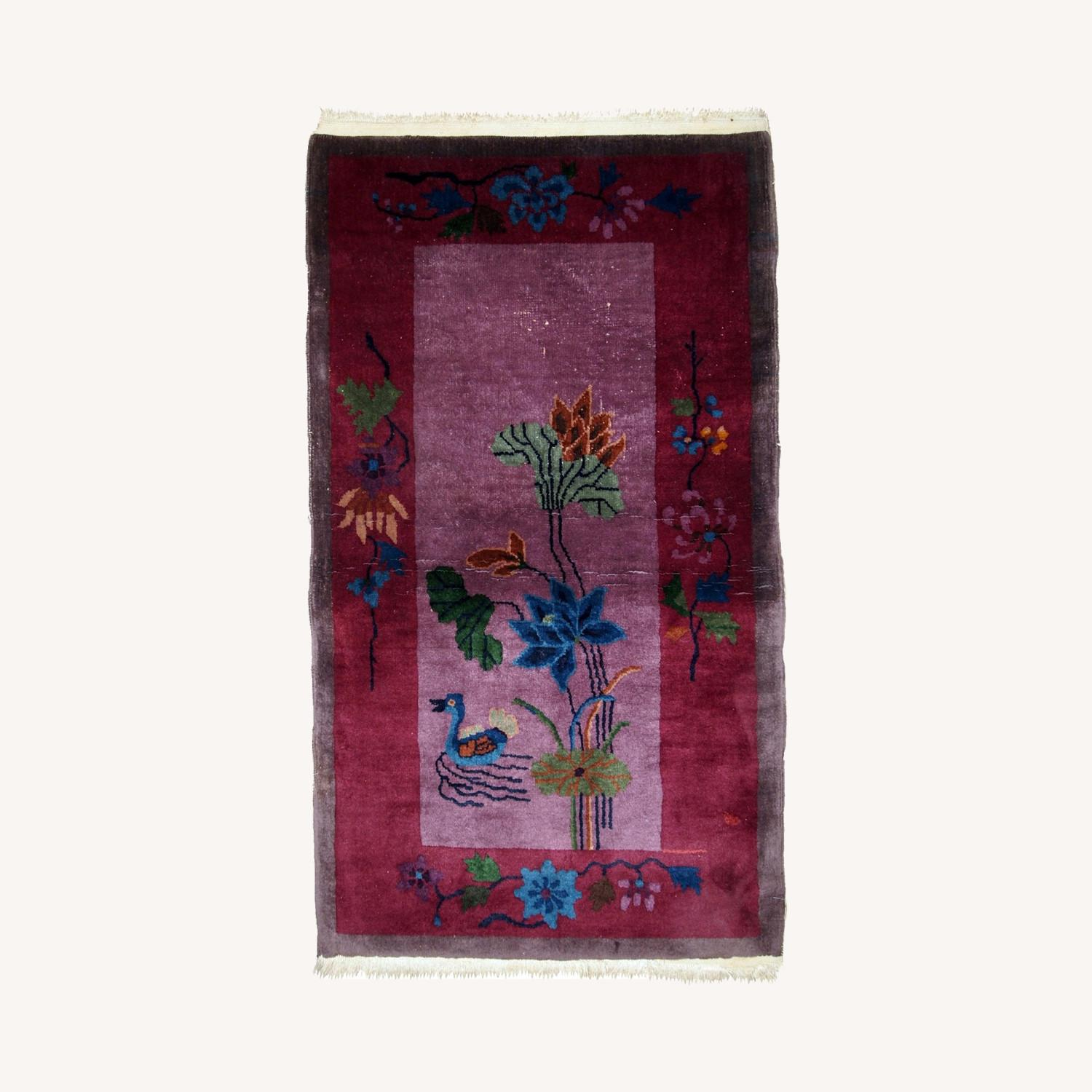 Handmade Antique Art Deco Chinese Rug - image-0