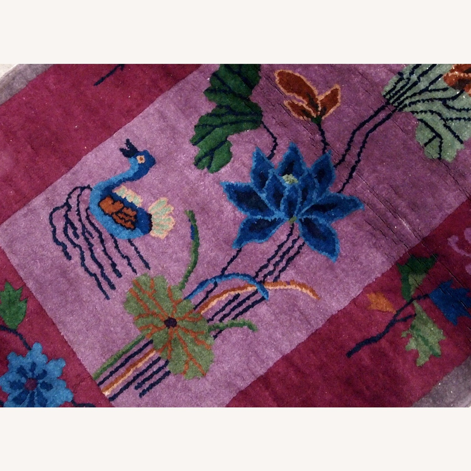 Handmade Antique Art Deco Chinese Rug - image-6