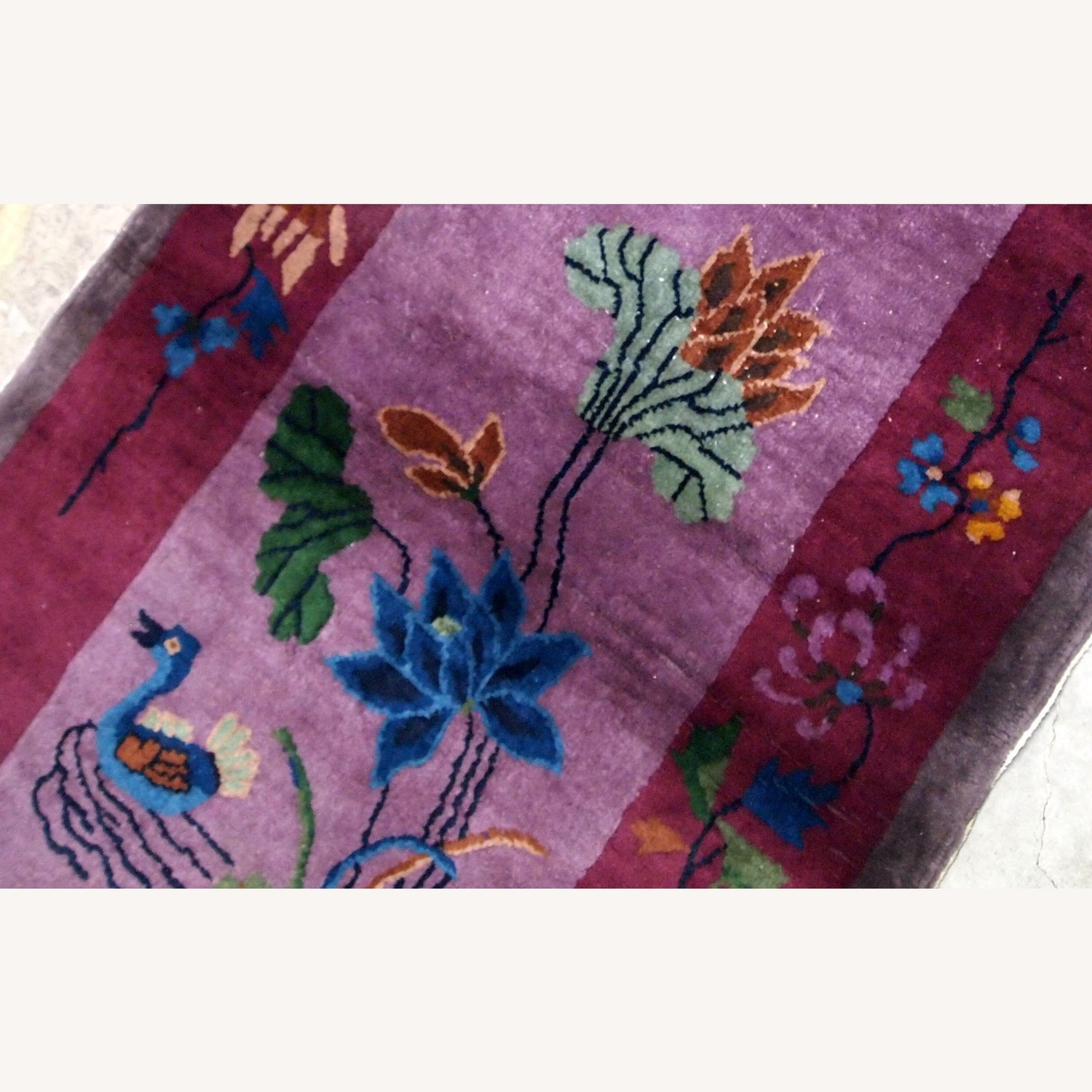 Handmade Antique Art Deco Chinese Rug - image-3