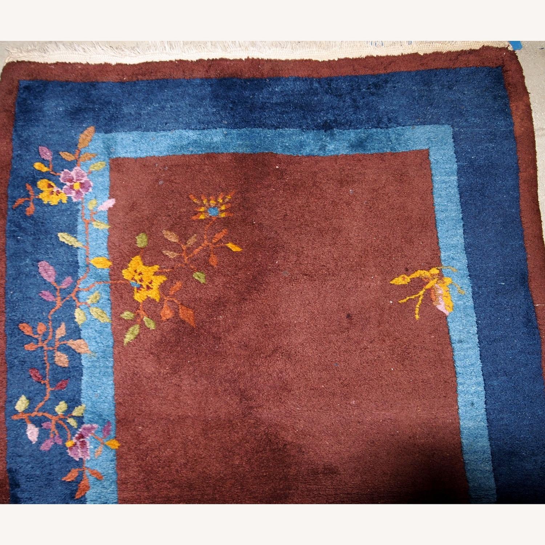Handmade Vintage Persian Sumak Saddle Bag - image-9