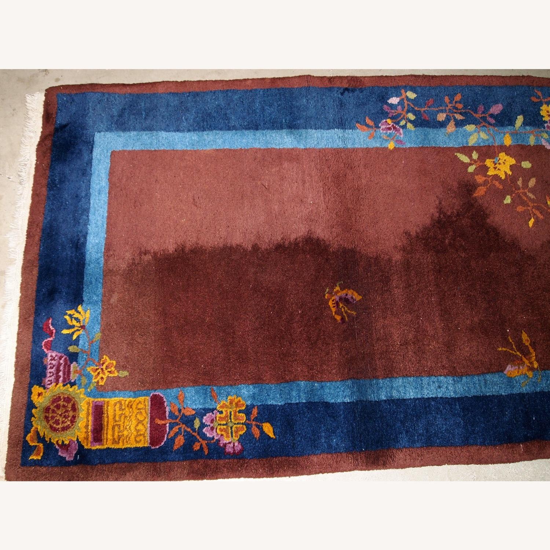 Handmade Vintage Persian Sumak Saddle Bag - image-3