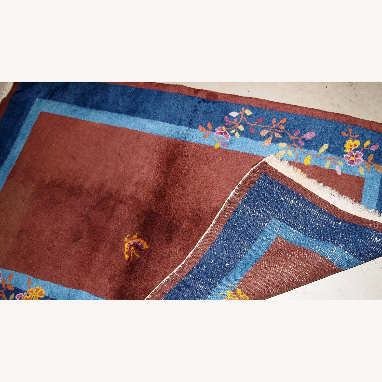 Handmade Vintage Persian Sumak Saddle Bag - image-10