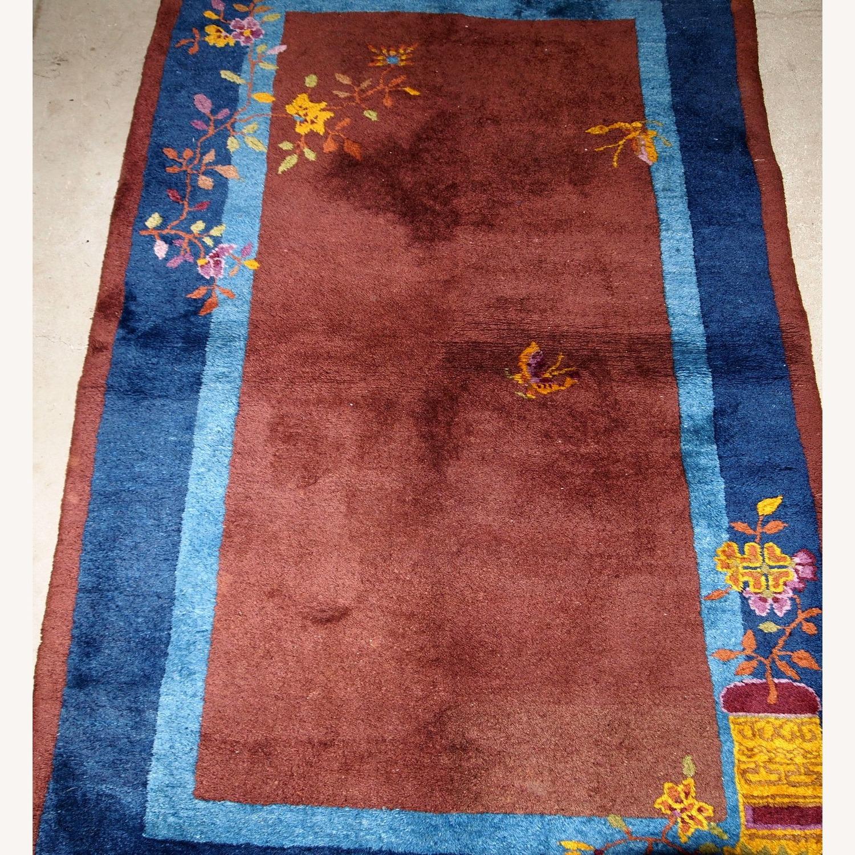 Handmade Vintage Persian Sumak Saddle Bag - image-6