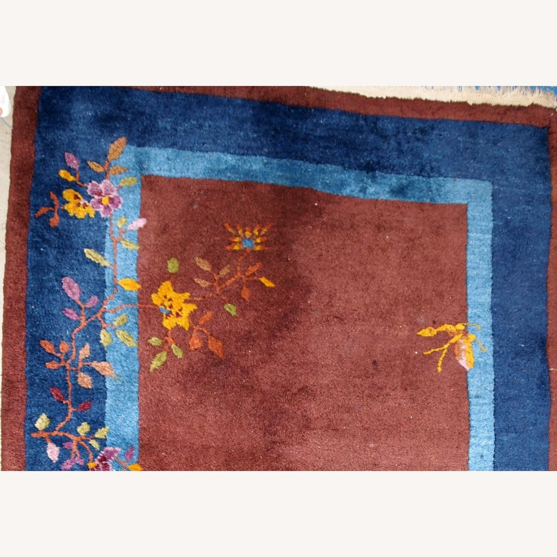 Handmade Vintage Persian Sumak Saddle Bag - image-2