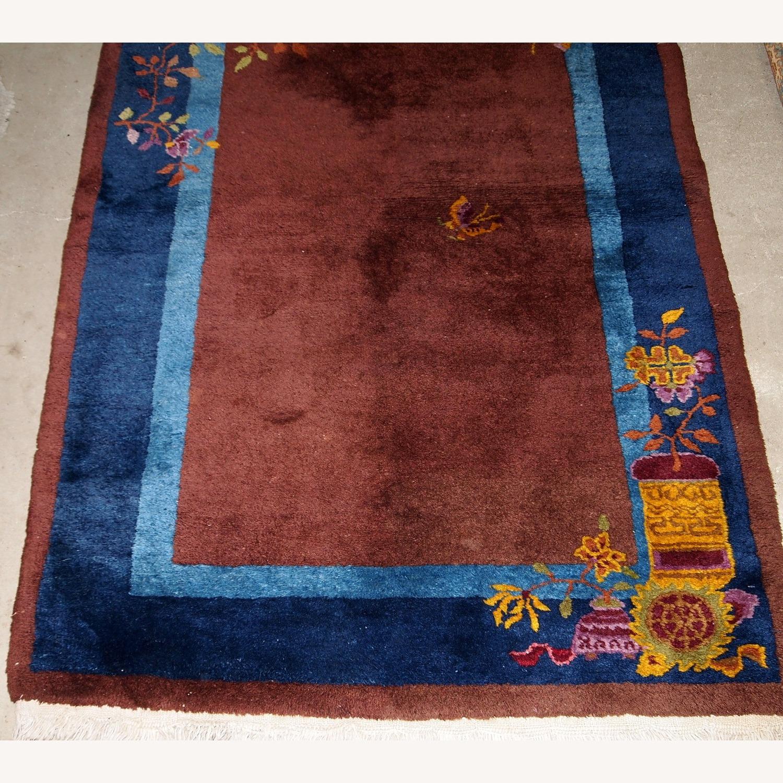 Handmade Vintage Persian Sumak Saddle Bag - image-8