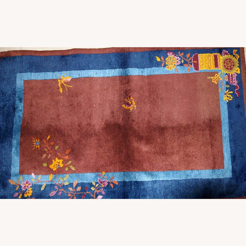 Handmade Vintage Persian Sumak Saddle Bag - image-4