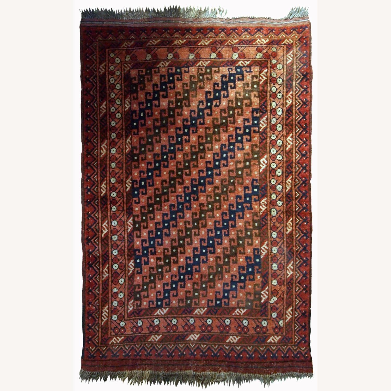 Handmade Antique Afghan Baluch Rug - image-1