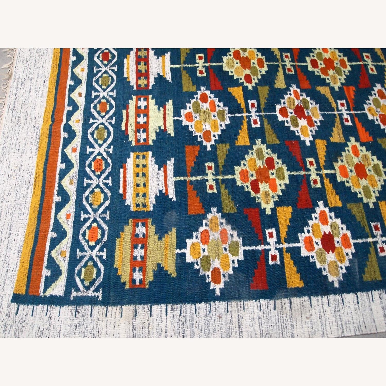 Handmade Vintage Scandinavian Flat-weave kilim - image-2