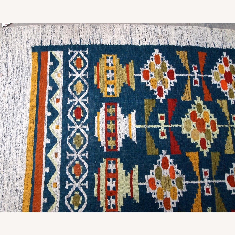 Handmade Vintage Scandinavian Flat-weave kilim - image-6