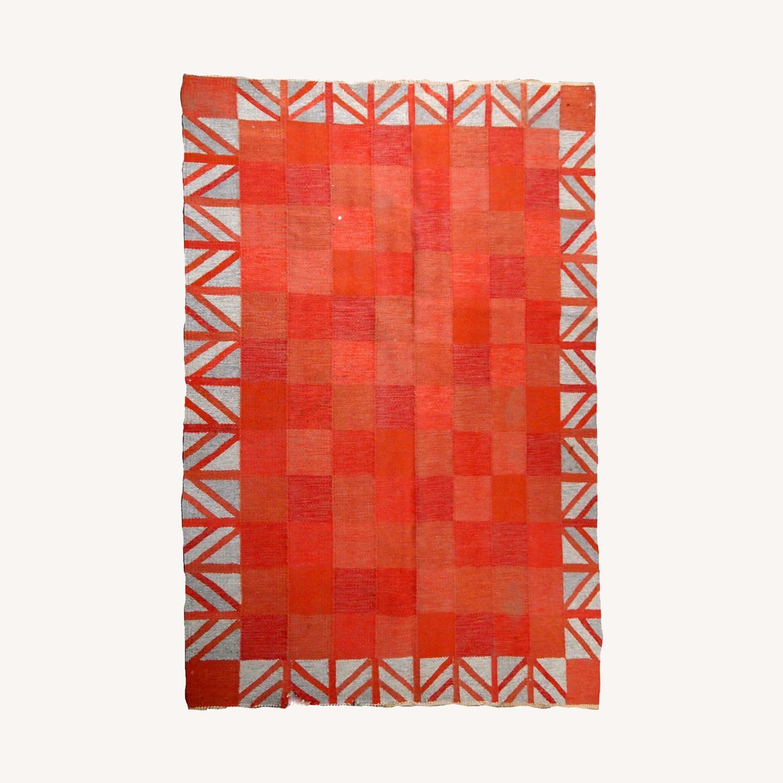 Handmade Vintage Scandinavian Flat-weave Kilim - image-0