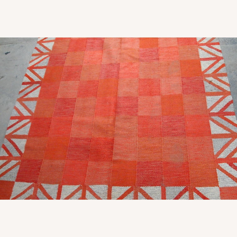 Handmade Vintage Scandinavian Flat-weave Kilim - image-5