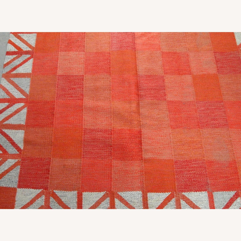 Handmade Vintage Scandinavian Flat-weave Kilim - image-4