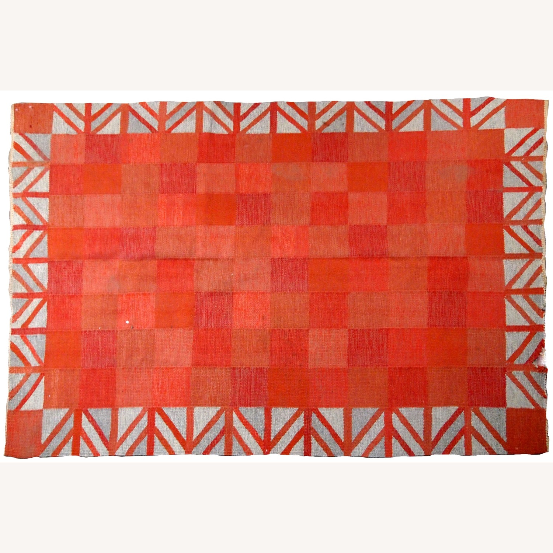 Handmade Vintage Scandinavian Flat-weave Kilim - image-8