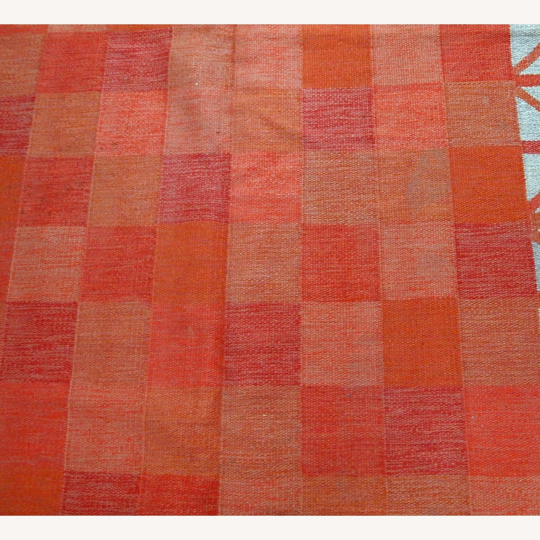 Handmade Vintage Scandinavian Flat-weave Kilim - image-7