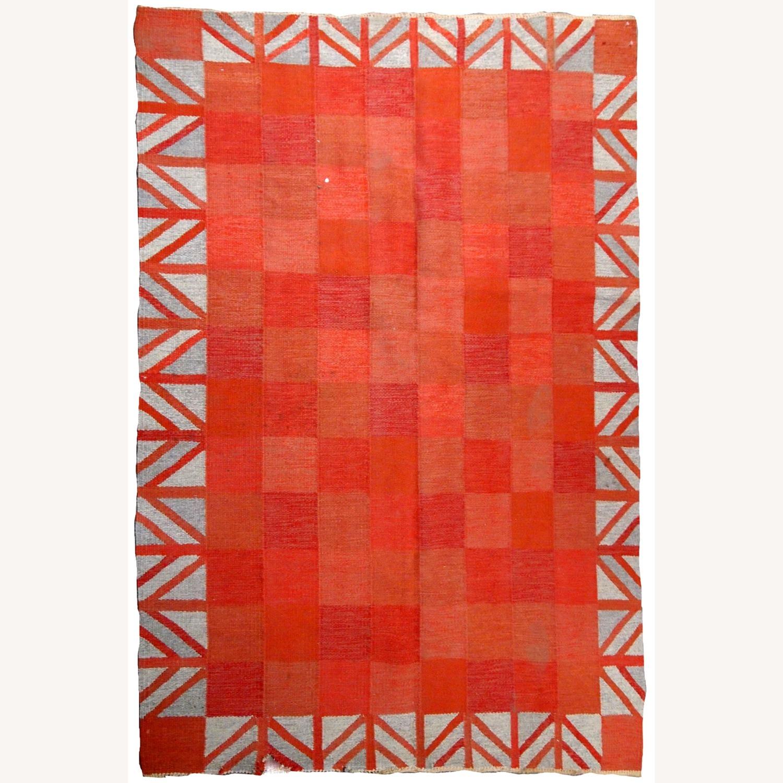 Handmade Vintage Scandinavian Flat-weave Kilim - image-1