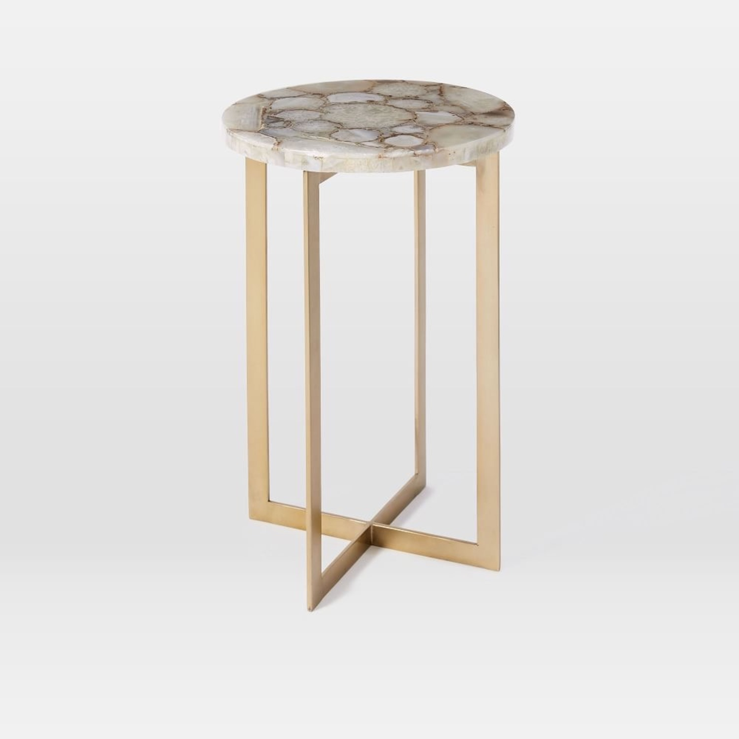 West Elm Agate & Brass Side Table - image-1