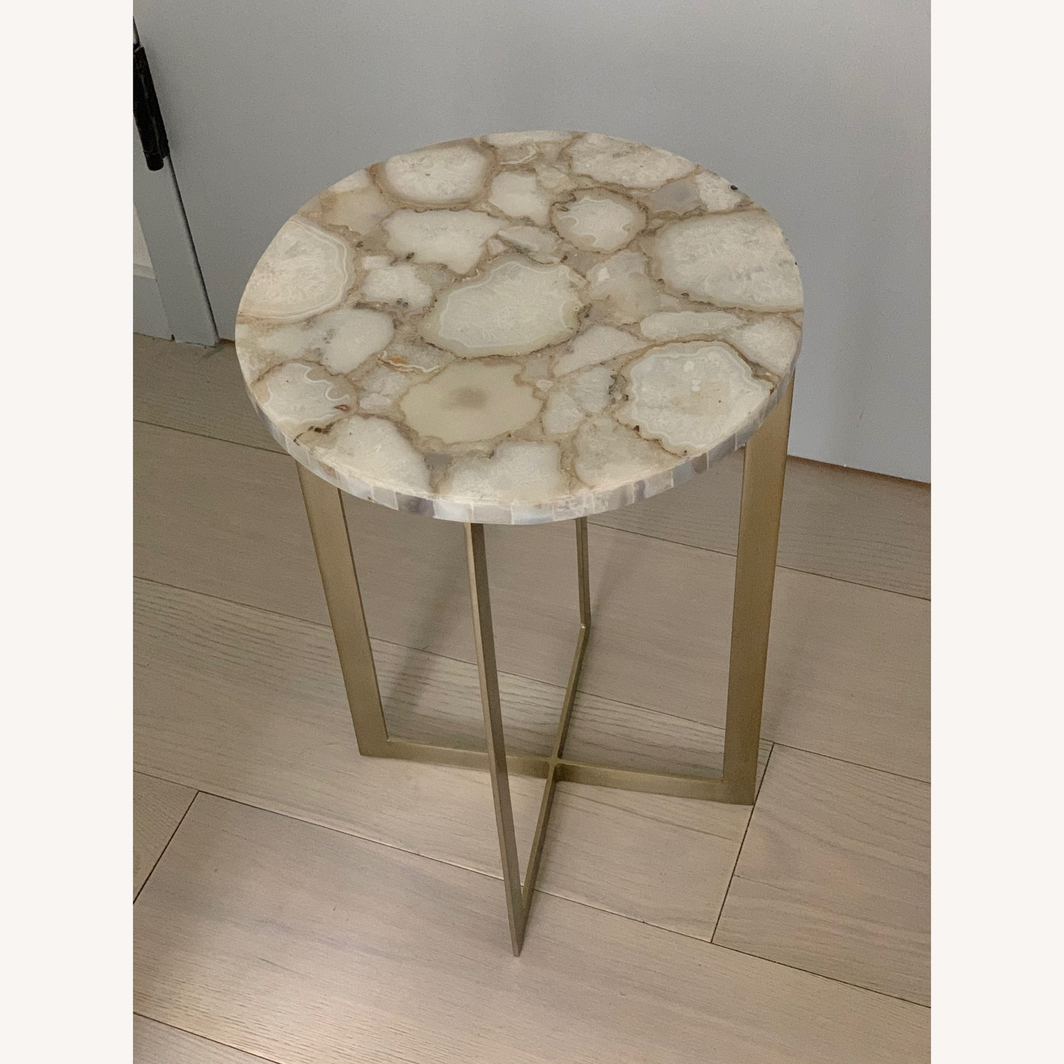 West Elm Agate & Brass Side Table - image-5