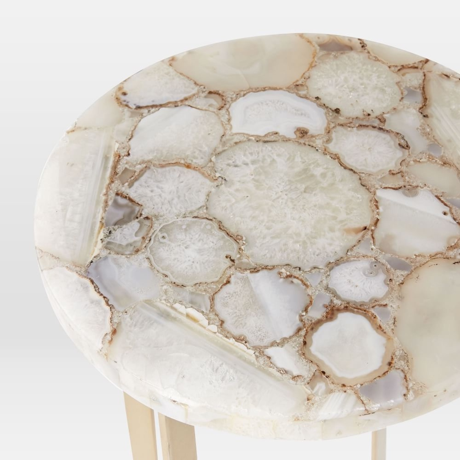 West Elm Agate & Brass Side Table - image-2