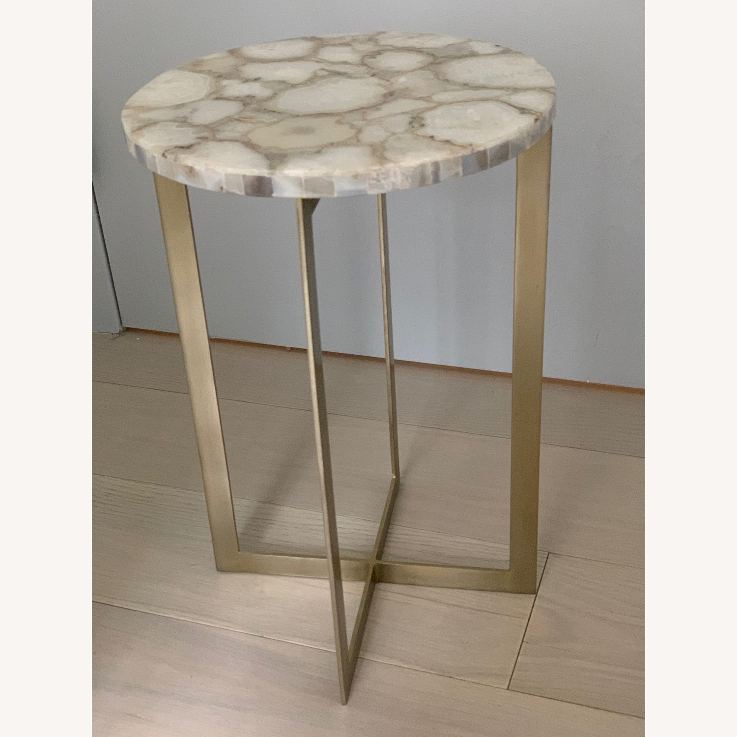 West Elm Agate & Brass Side Table - image-4