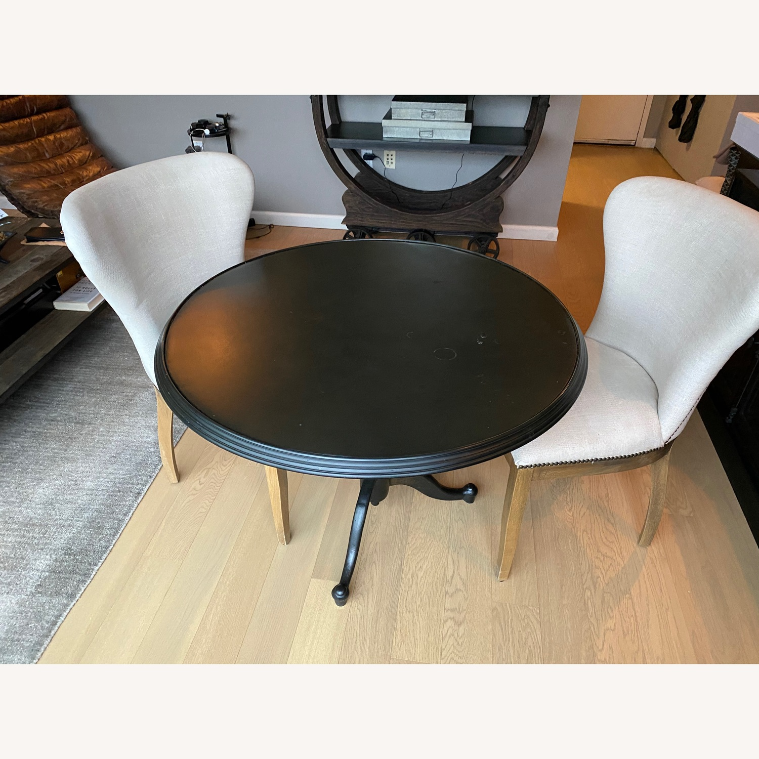 Restoration Hardware Dining Table with 2 Chairs - image-1