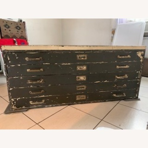 Used Vintage Industrial Steel Chest Flat File Cabinet for sale on AptDeco