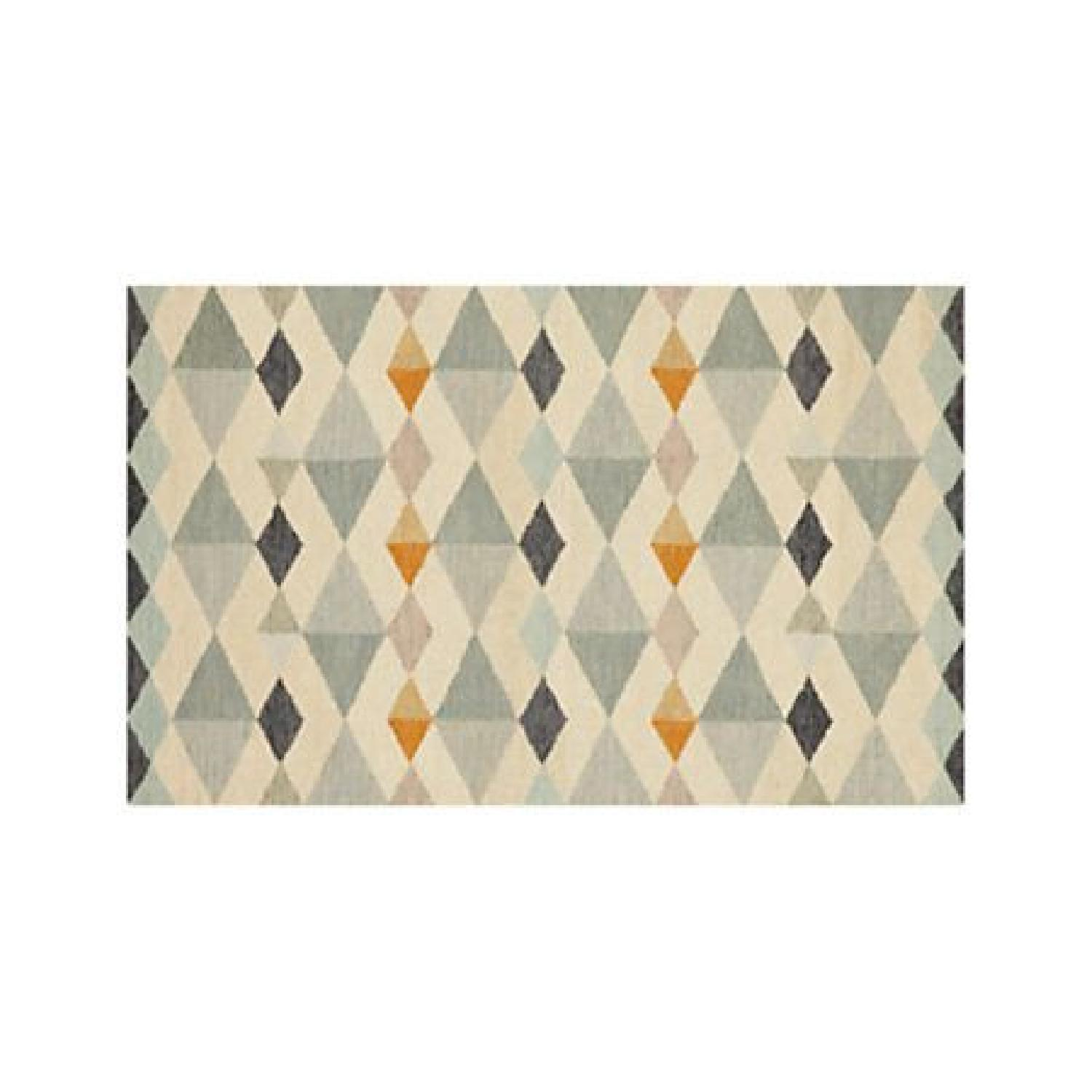 Crate & Barrel Orson Diamond Rug with Pad - image-0