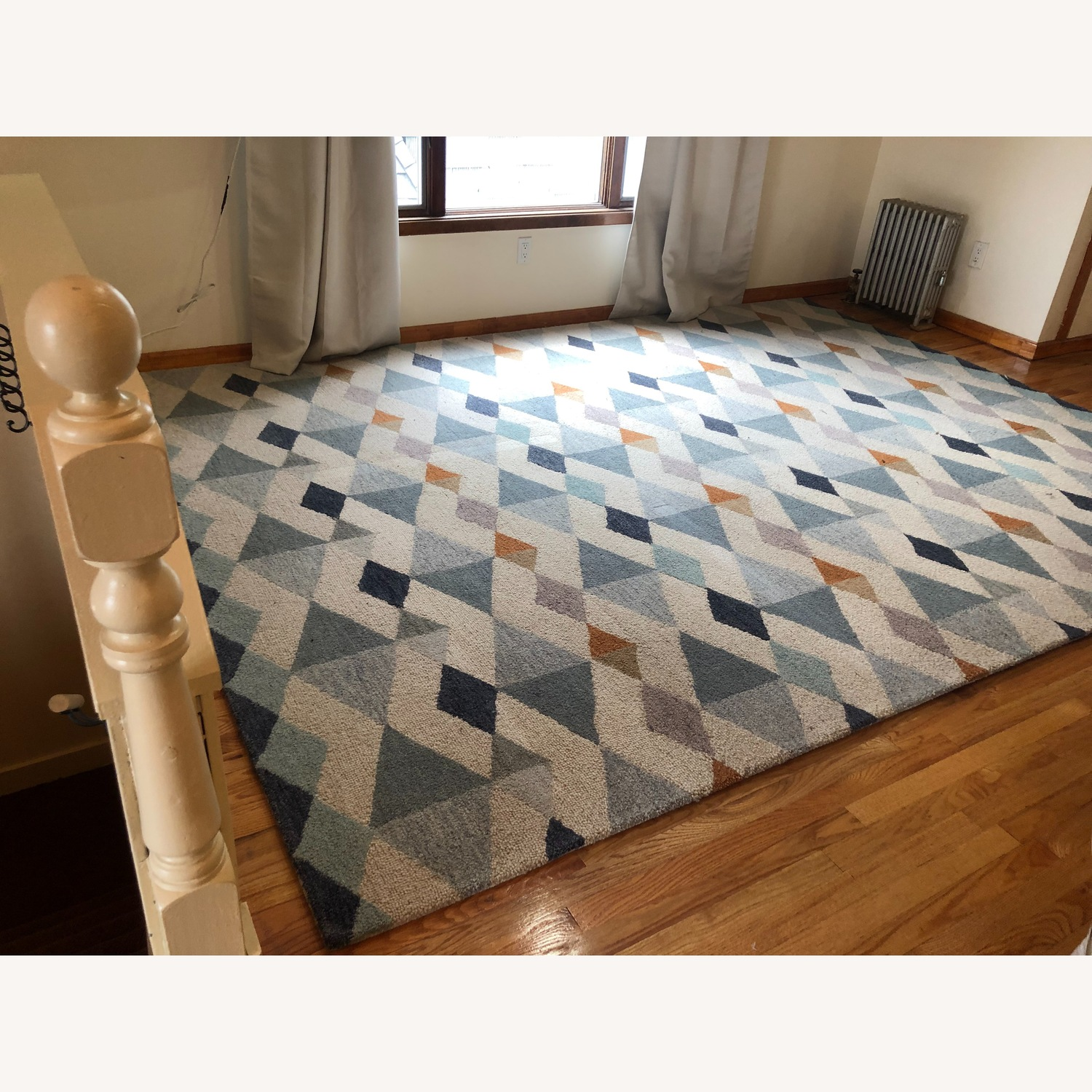 Crate & Barrel Orson Diamond Rug with Pad - image-3