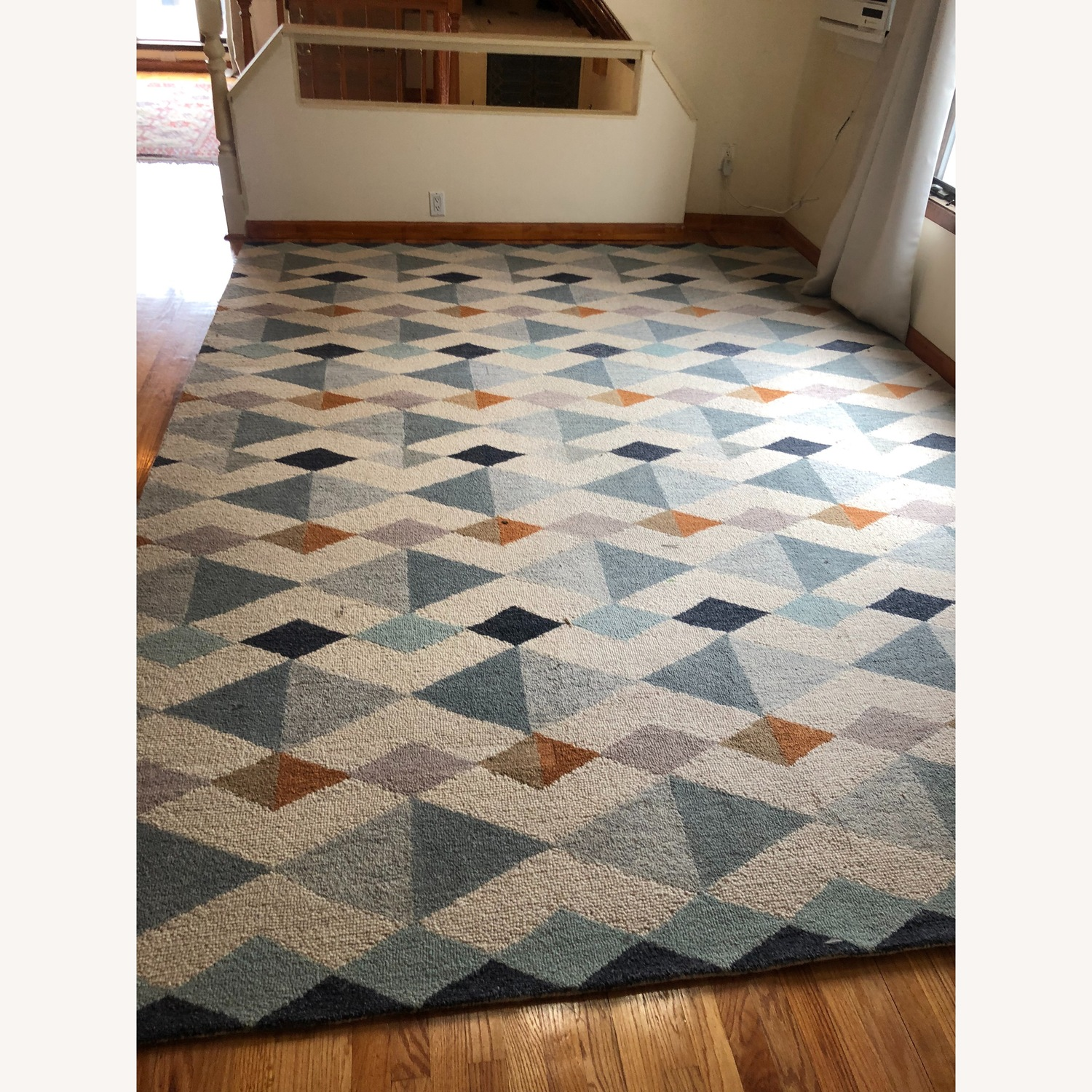 Crate & Barrel Orson Diamond Rug with Pad - image-2