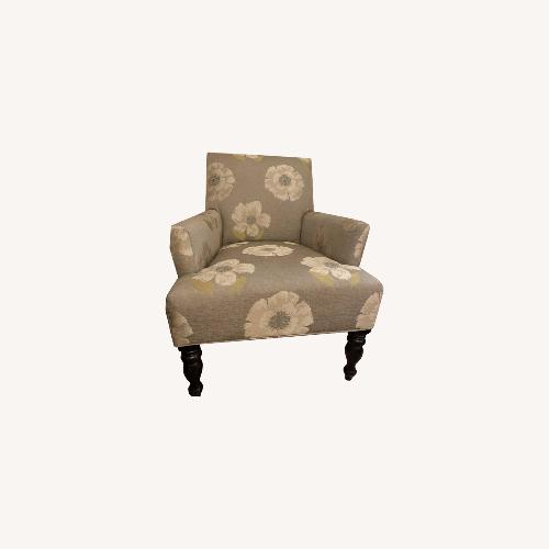 Used Pier 1 Grey Accent Chair with Flowers for sale on AptDeco