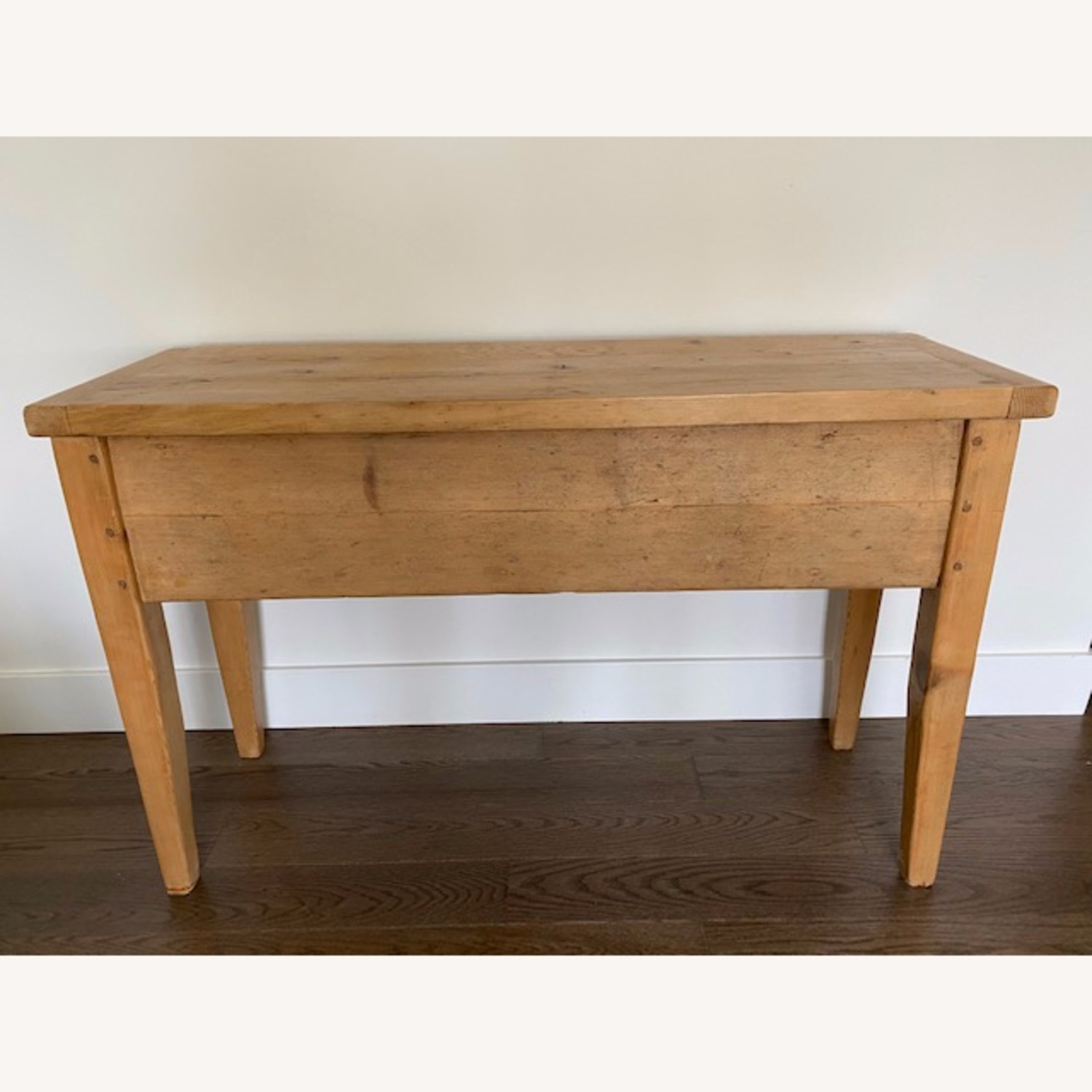 Vintage Pine Console Table with Drawers - image-2