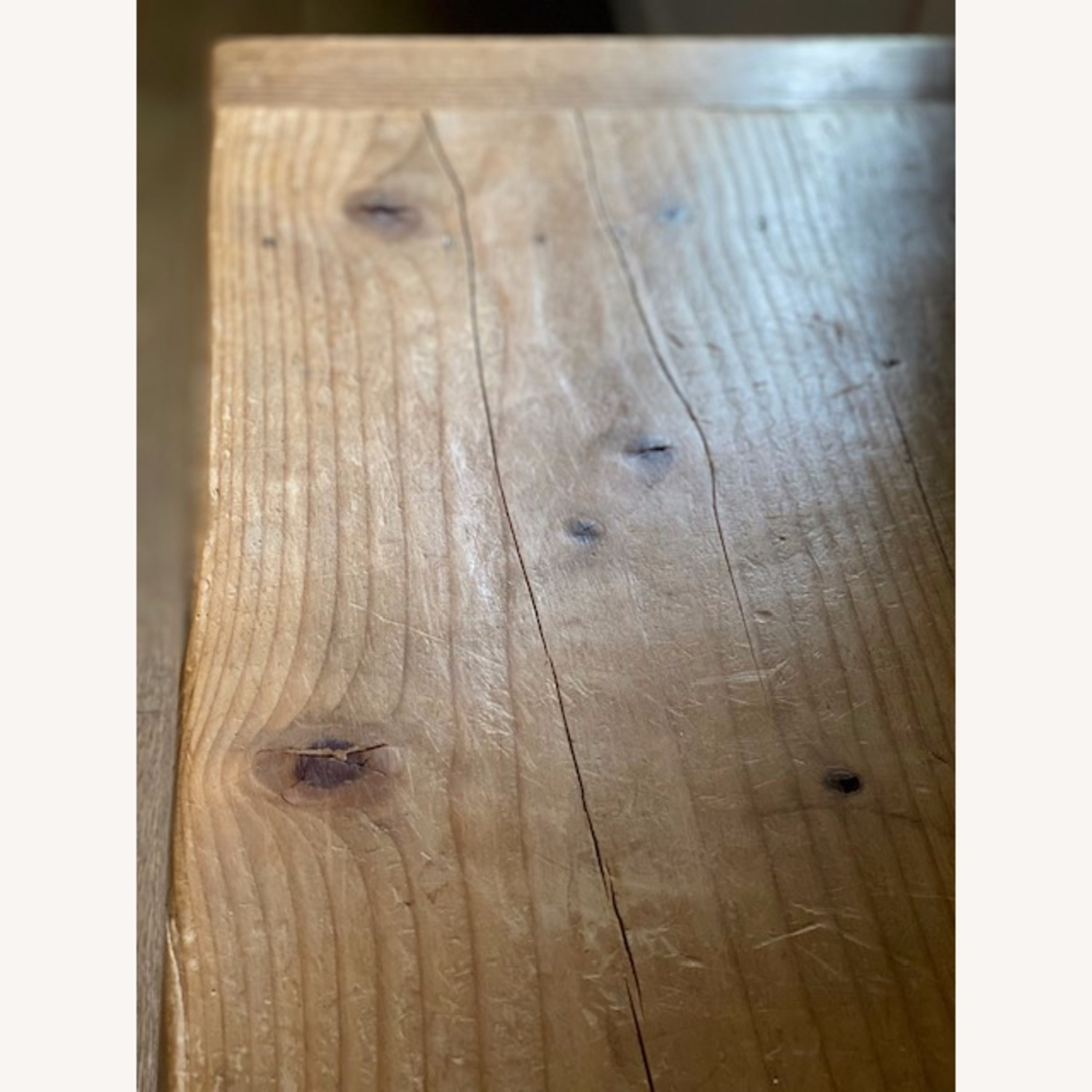Vintage Pine Console Table with Drawers - image-8