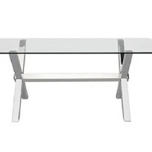 Used Z Gallerie Glass Top Dining Table for sale on AptDeco
