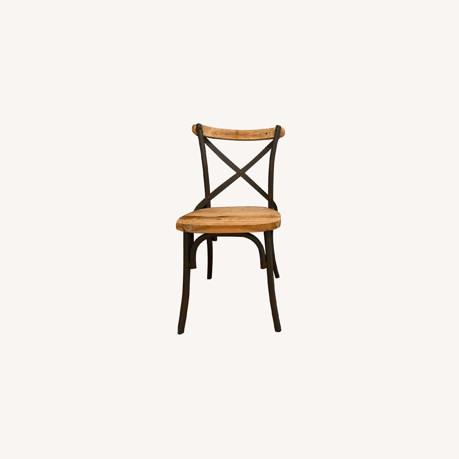 Iron and Wood Chair Set - image-0