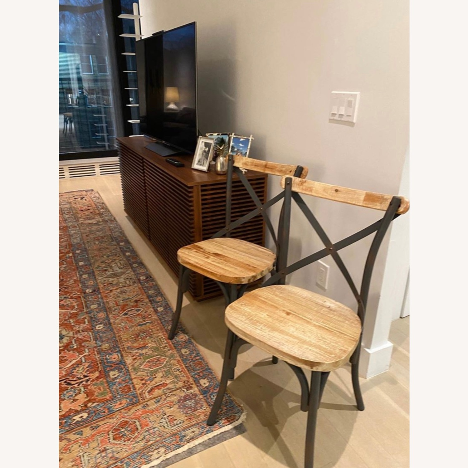Iron and Wood Chair Set - image-1