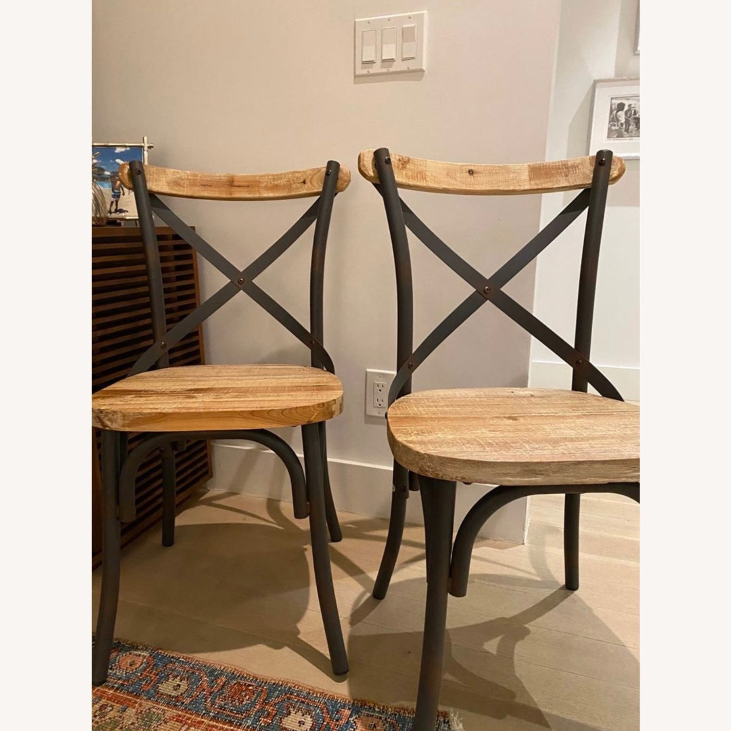 Iron and Wood Chair Set - image-2