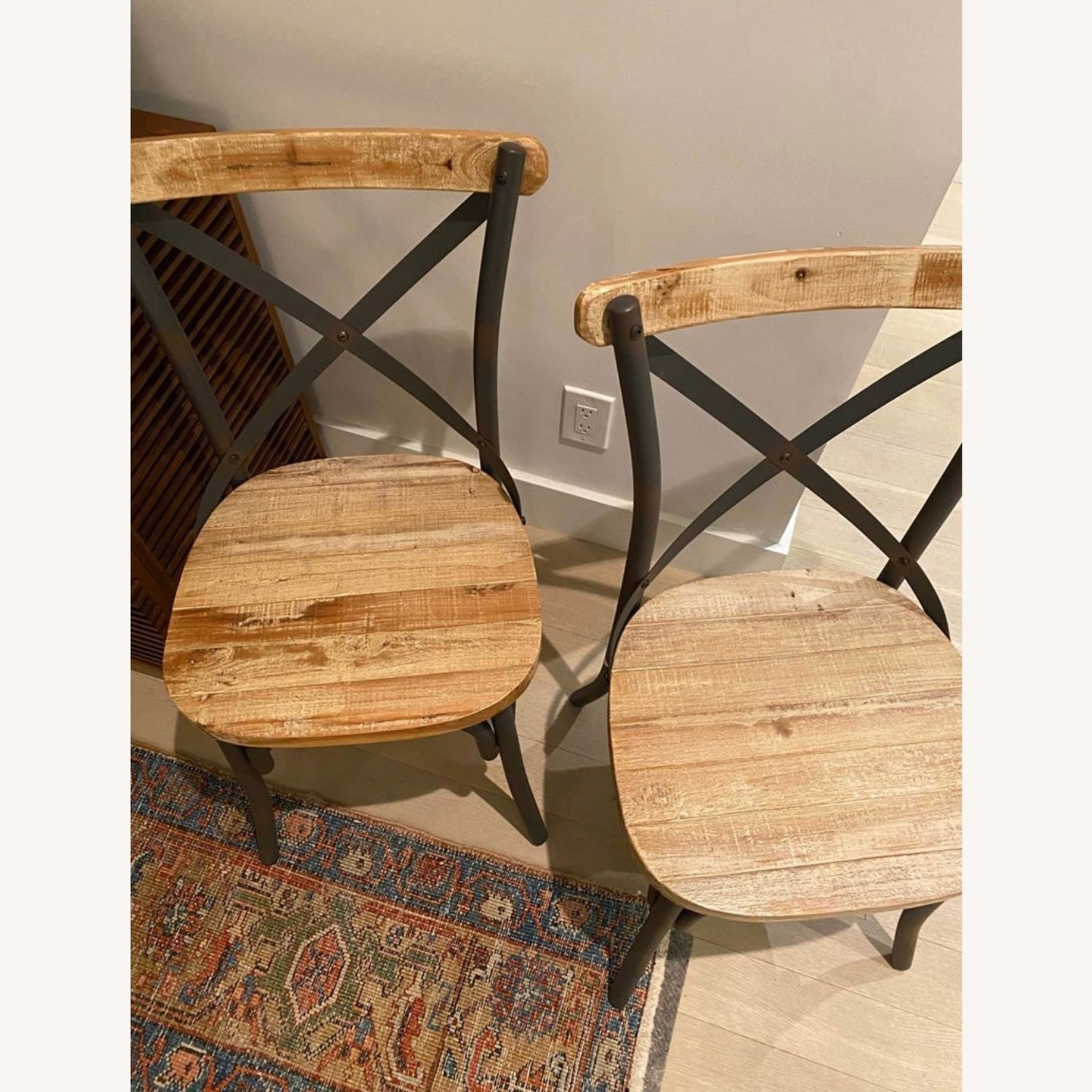 Iron and Wood Chair Set - image-3