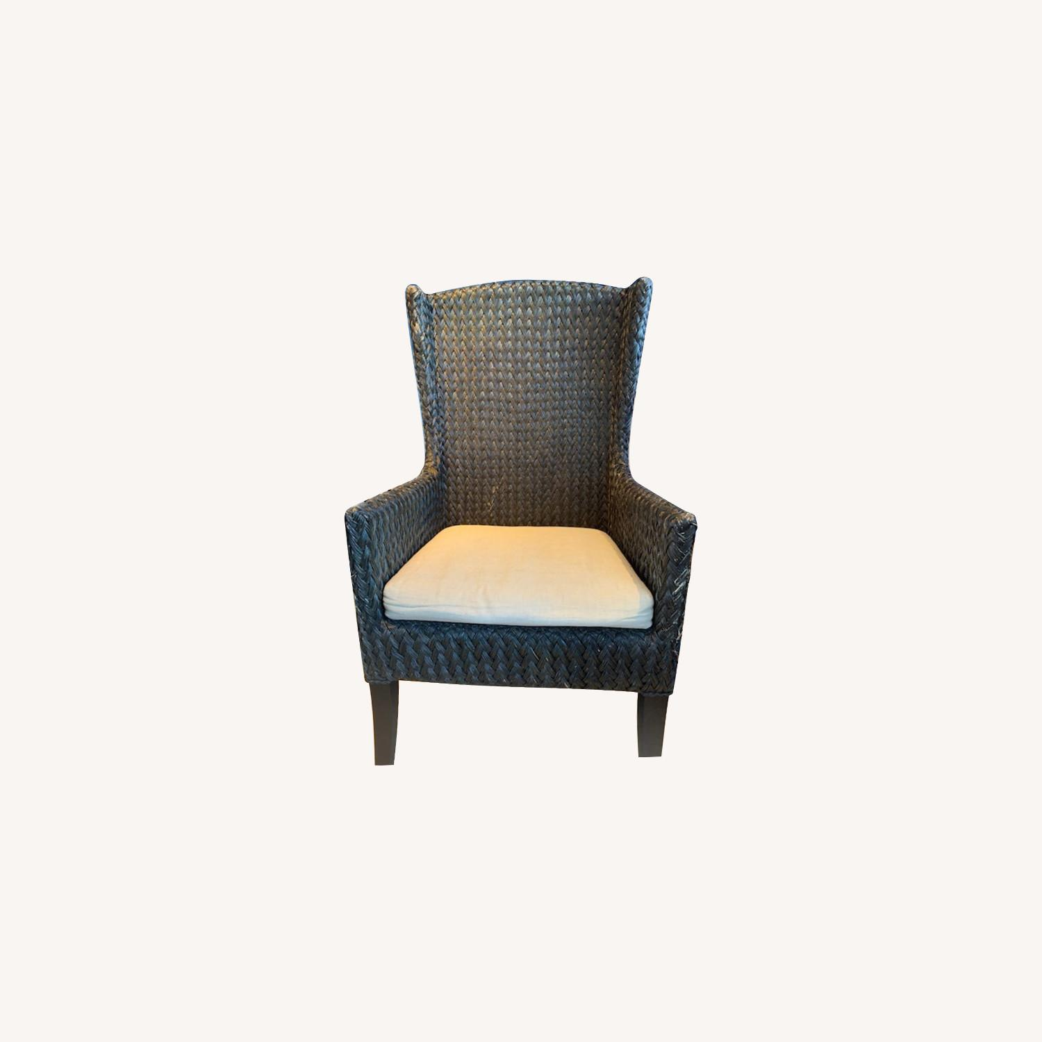 Crate & Barrel Palmetto II Arm Chair with Cushion - image-0
