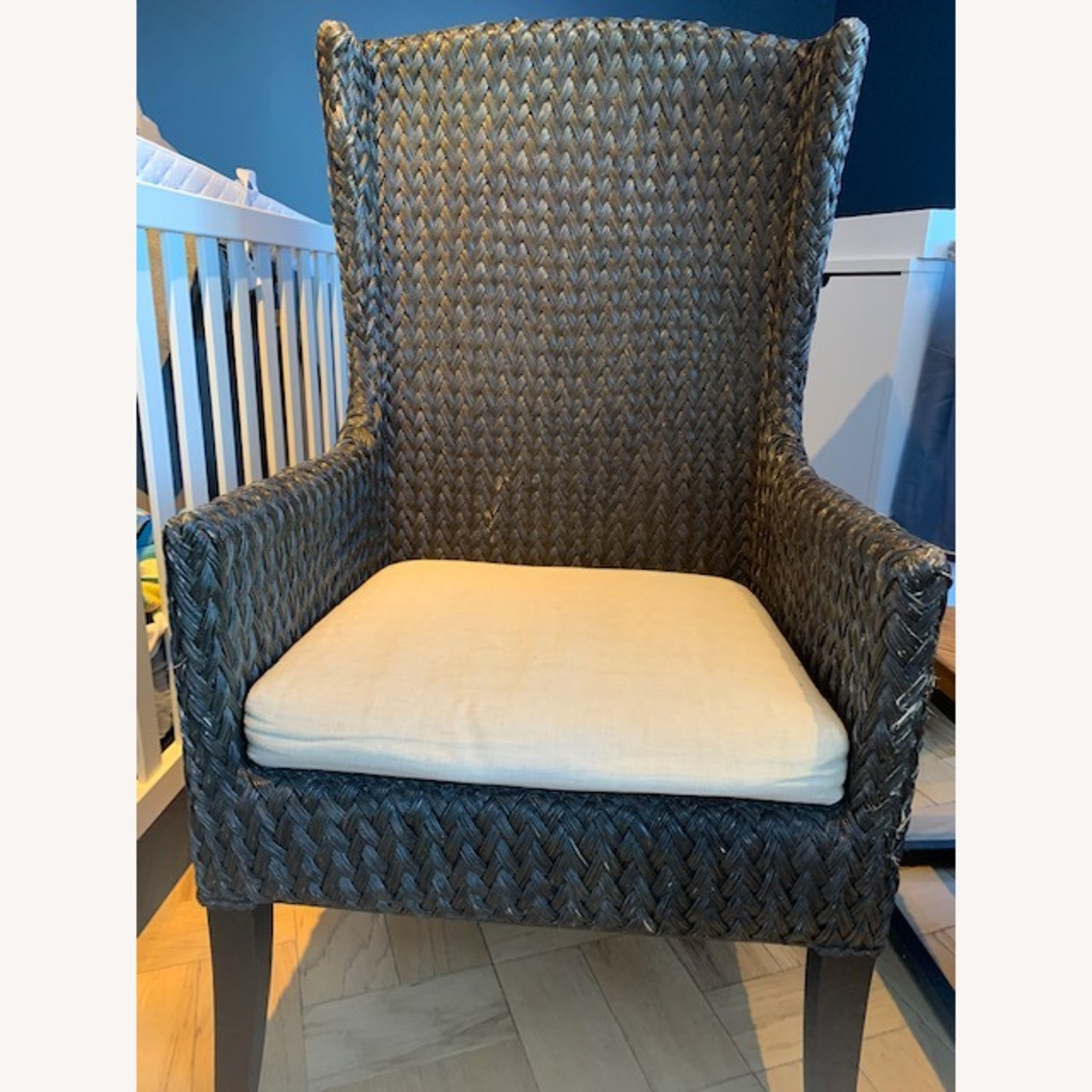 Crate & Barrel Palmetto II Arm Chair with Cushion - image-3