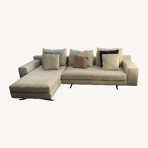 Used Calligaris Camarich Chaise Sectional Sofa for sale on AptDeco