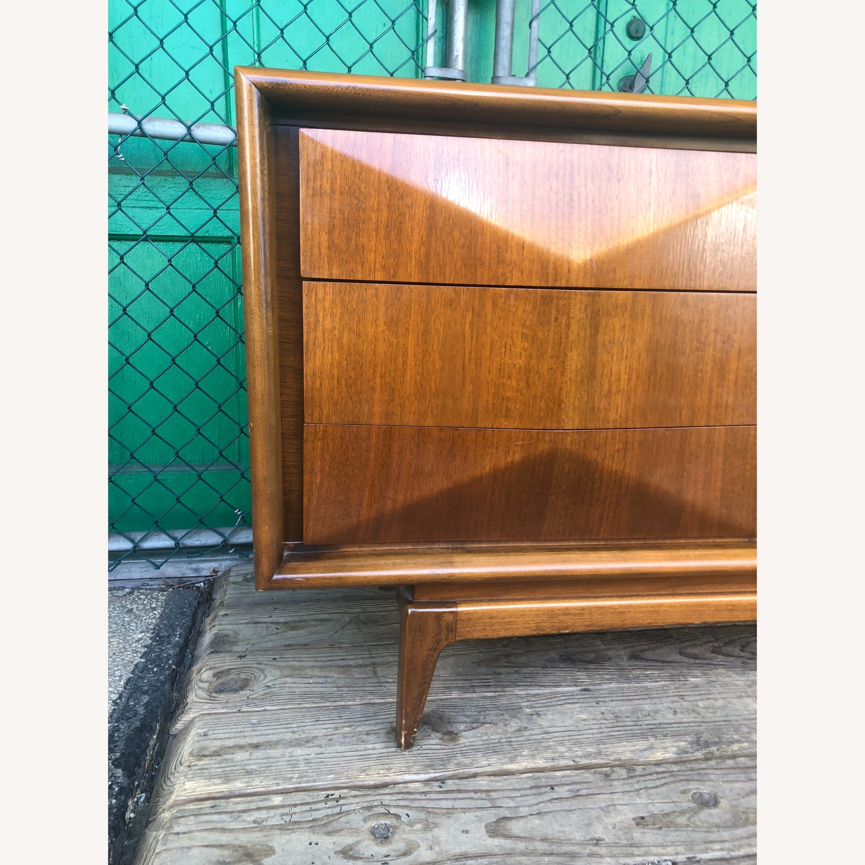 Mid Century Diamond Front Lowboy Dresser - image-4