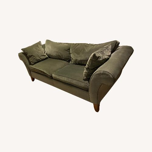 Used Ethan Allen Green Couch for sale on AptDeco
