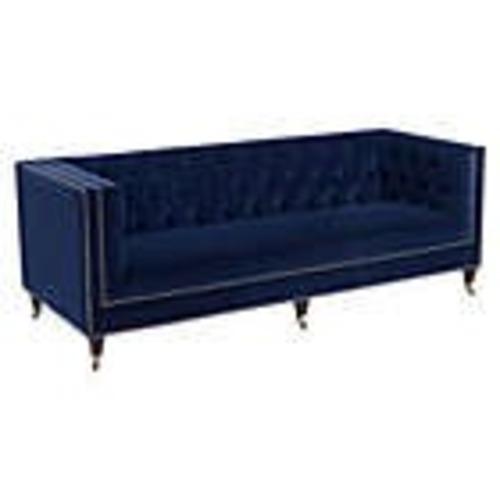 Used Safavieh Blue Velvet Sofa for sale on AptDeco