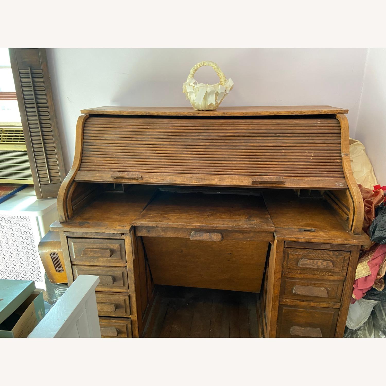 Antique Roll Top Desk - image-4