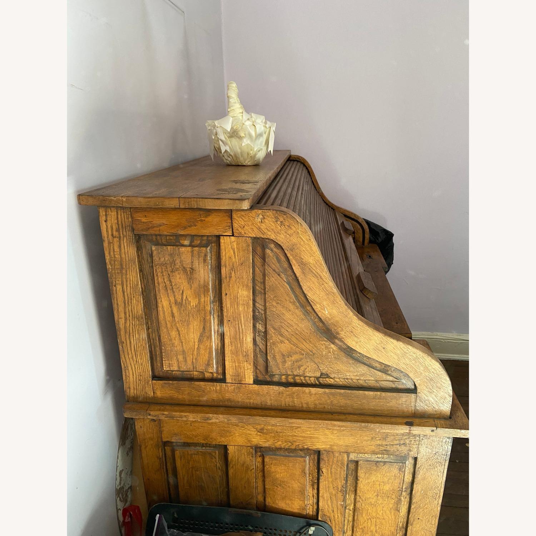 Antique Roll Top Desk - image-3