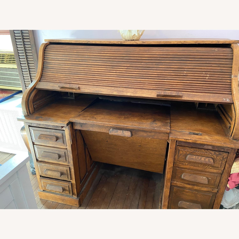 Antique Roll Top Desk - image-1