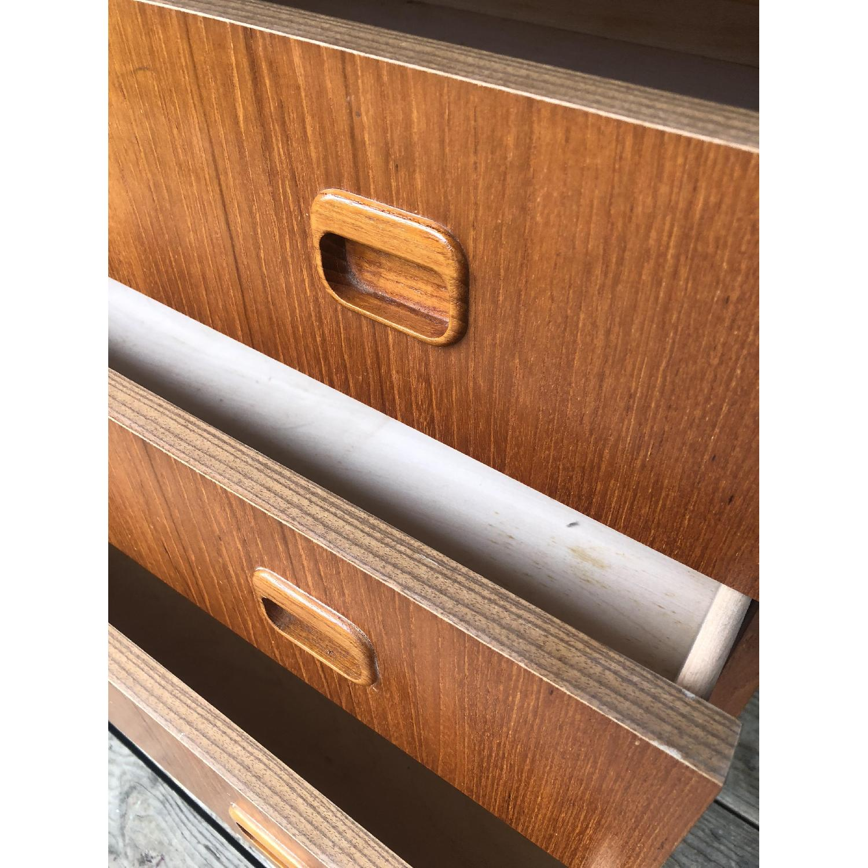 Danish Modern Teak Rolltop Locking Desk with Key - image-10