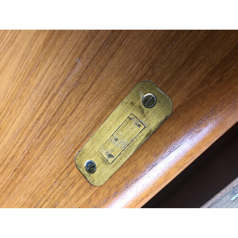 Danish Modern Teak Rolltop Locking Desk with Key - image-11