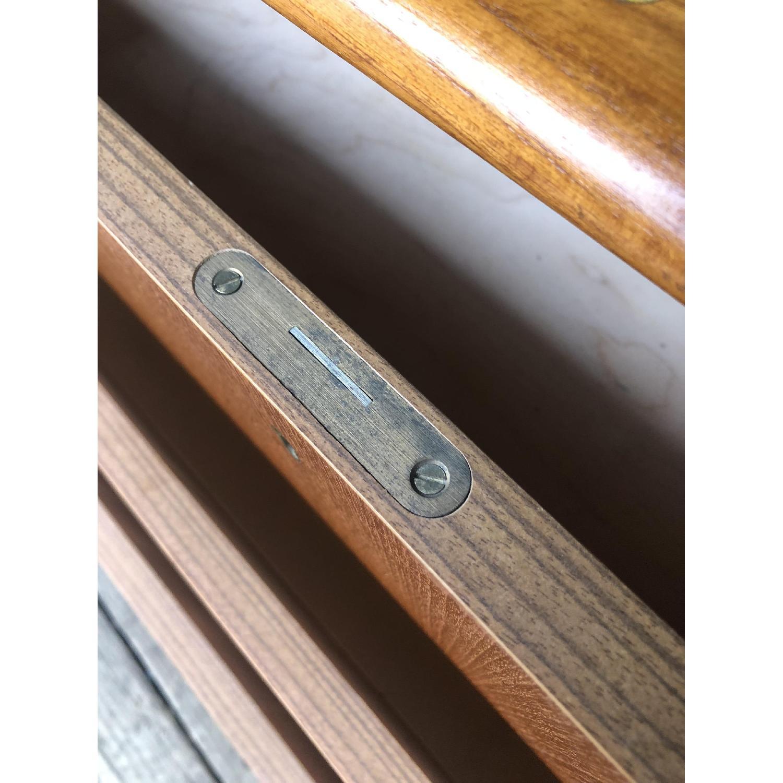 Danish Modern Teak Rolltop Locking Desk with Key - image-12