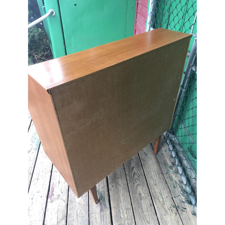 Danish Modern Teak Rolltop Locking Desk with Key - image-15